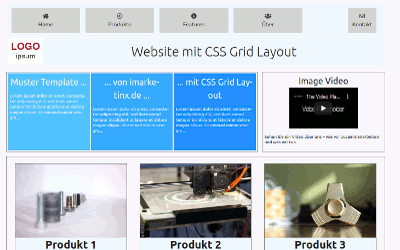 Template 'CSS Grid Layout'
